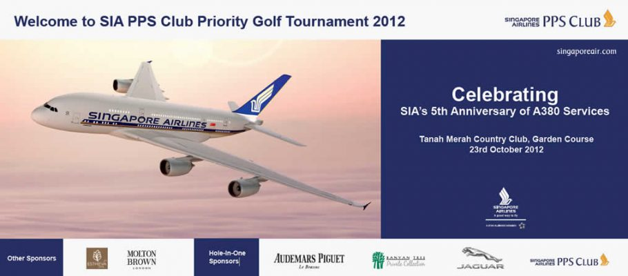 Exclusive Spa Sponsor of Singapore Airlines PPS Club Priority Golf Tournament