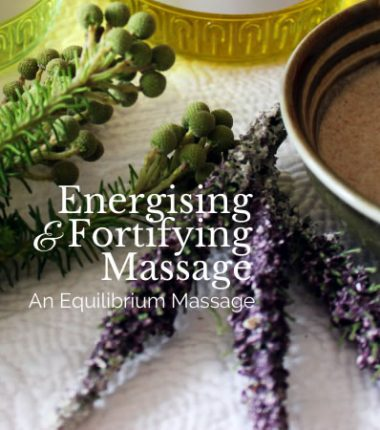energising fortifying massage