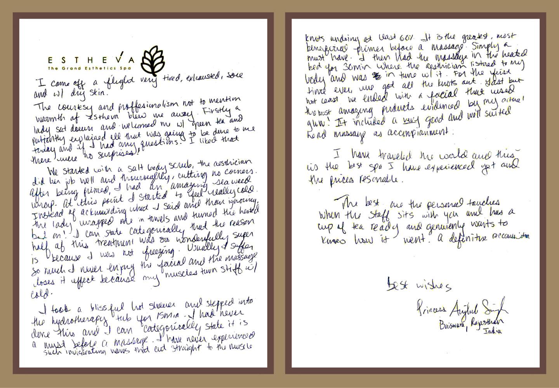 Royal Spa Testimonial
