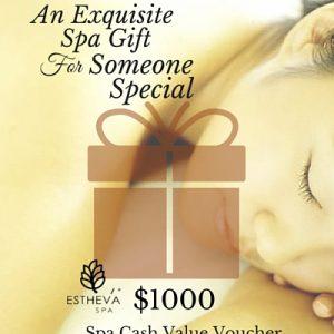 $1000 Spa Cash Value Voucher