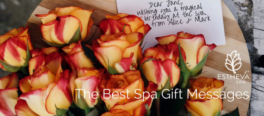 The Best Spa Gift Messages and Wishes